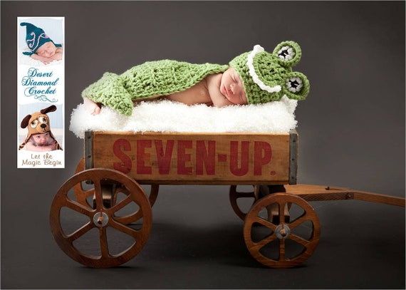 Alligator / Crocodile Cuddle Critter Cape Newborn Photography Prop