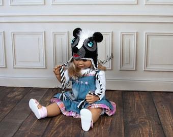 Crochet Pattern 101 - Lil Stinker Skunk Beanie Hat - All Sizes