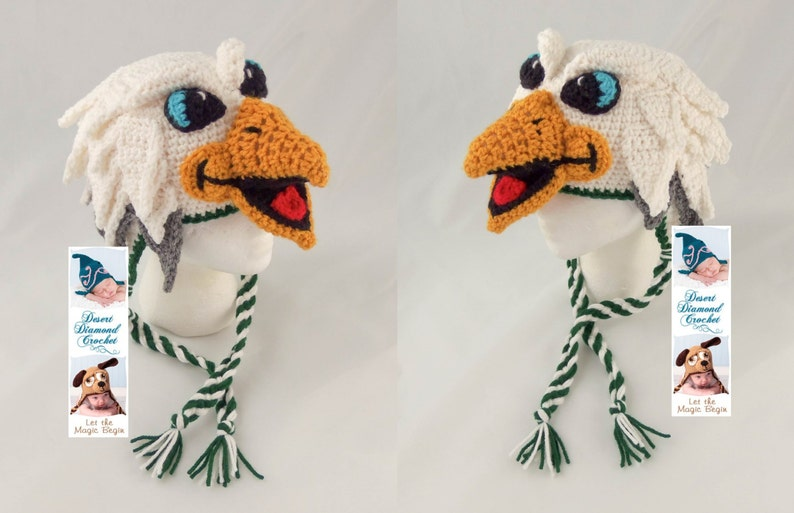 Crochet Pattern 095  Swoop the Philadelphia Eagle Hat  All image 0