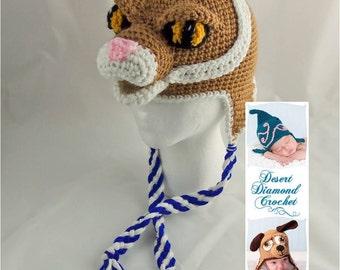 Crochet Pattern 079 - University of Kentucky Wildcat Hat - All Sizes