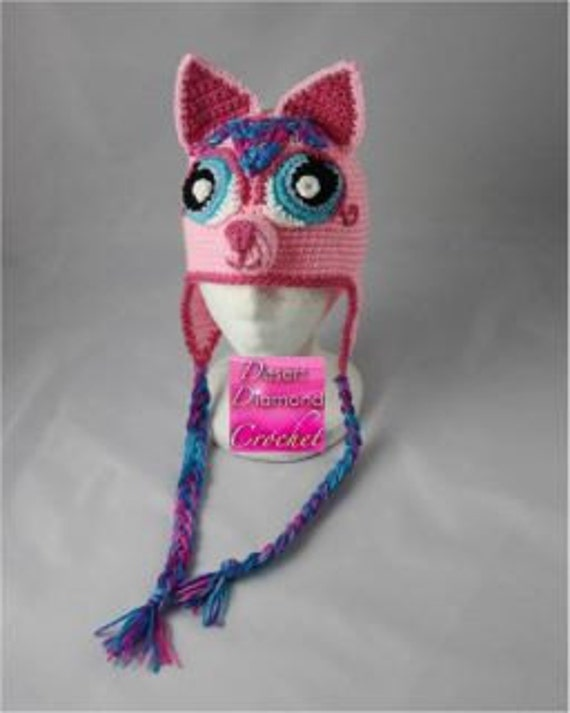 Pretty Kitty Earflap Beanie - Any Colors - Any Size