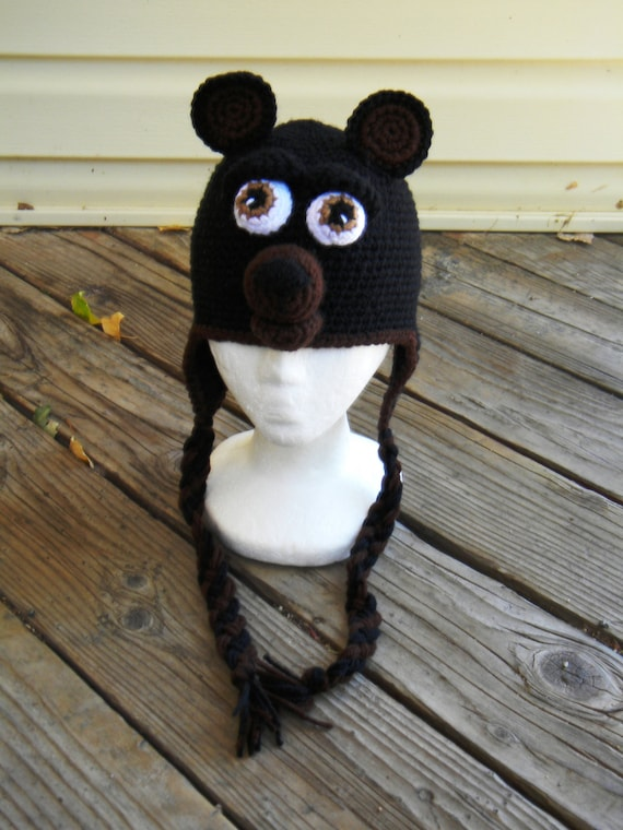 Crochet Pattern 015 - Teddy Bear Earflap Hat 2 - All Sizes