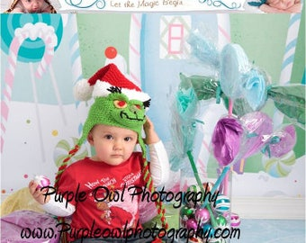 Crochet Pattern 034 - Bah Humbug Christmas Santa Holiday Beanie Hat - All Sizes