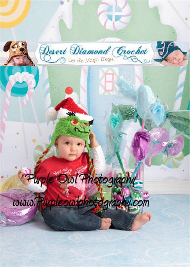 Crochet Pattern 034  Bah Humbug Christmas Santa Holiday image 0