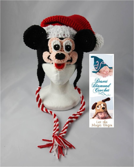 Mr. Santa Mouse Holiday Hat - Any Size