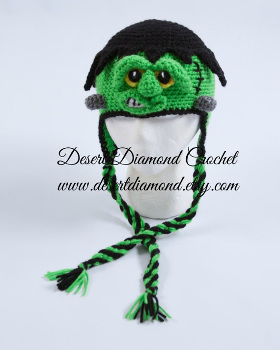 Crochet Pattern 109 - Frankenstein Monster Hat