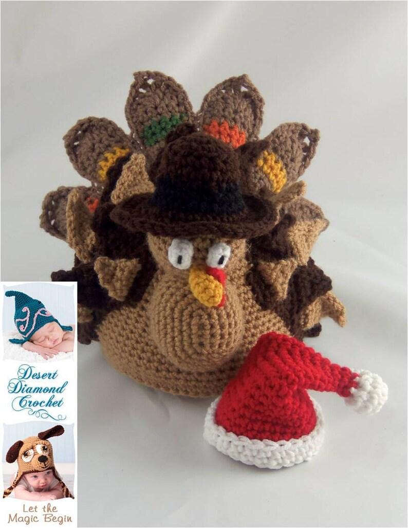 Crochet Pattern 089  Holidurkey Turkey Holiday Decoration image 0