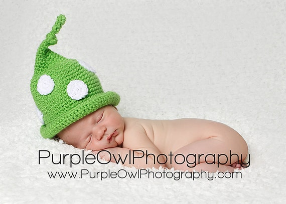 Polka Dot Knot Top Gnome Beanie - Any size - Any Color
