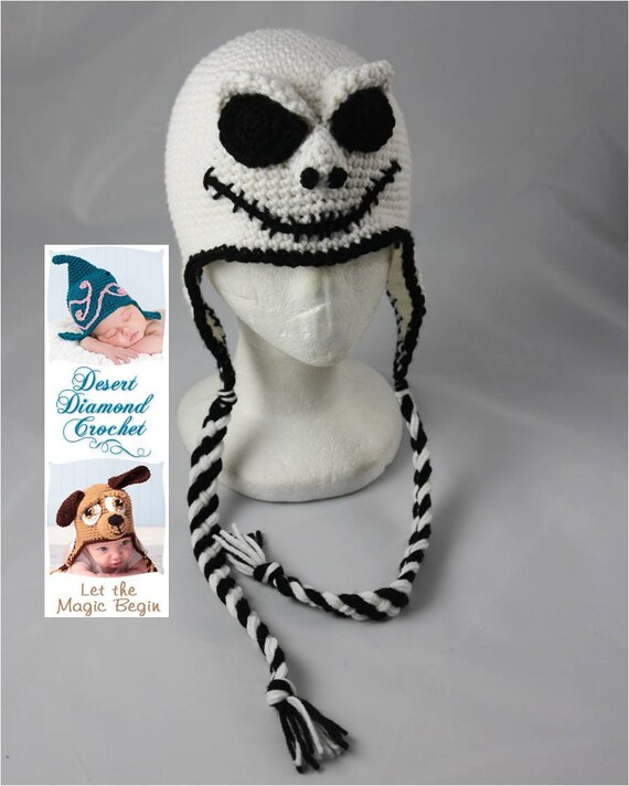 Crochet Pattern 038 - Skeleton Beanie Hat - All Sizes