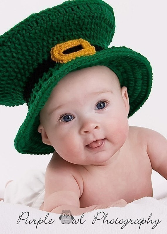 St. Patrick's Day Leprechaun Hat - Photography Prop - any size - Free Shipping