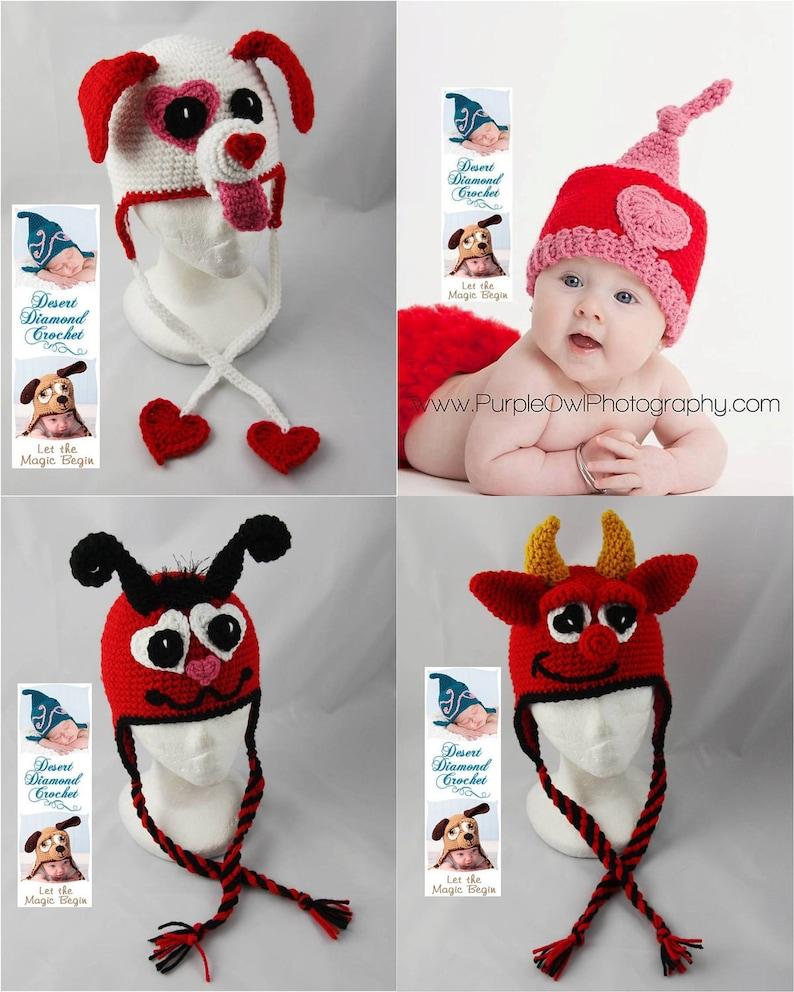 1de46f4d283 Crochet Pattern Valentine s Day Hat Pattern Pack 1 4