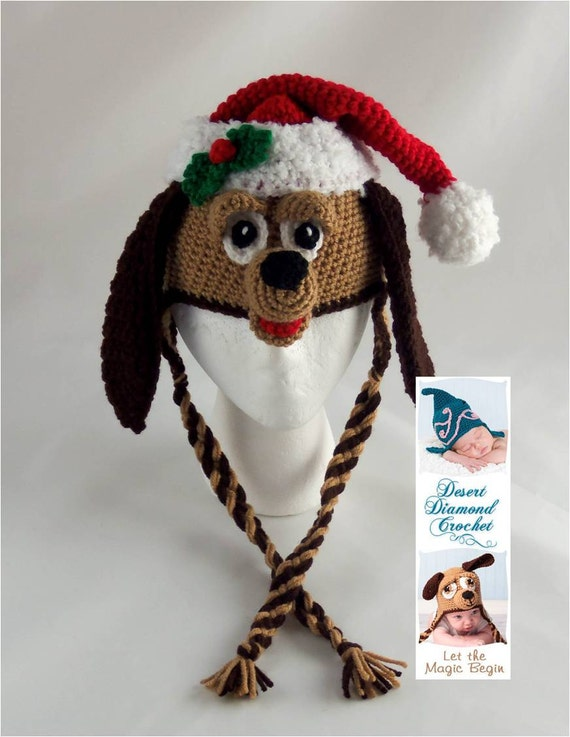 Santa Puppy Holiday Hat - Any Size