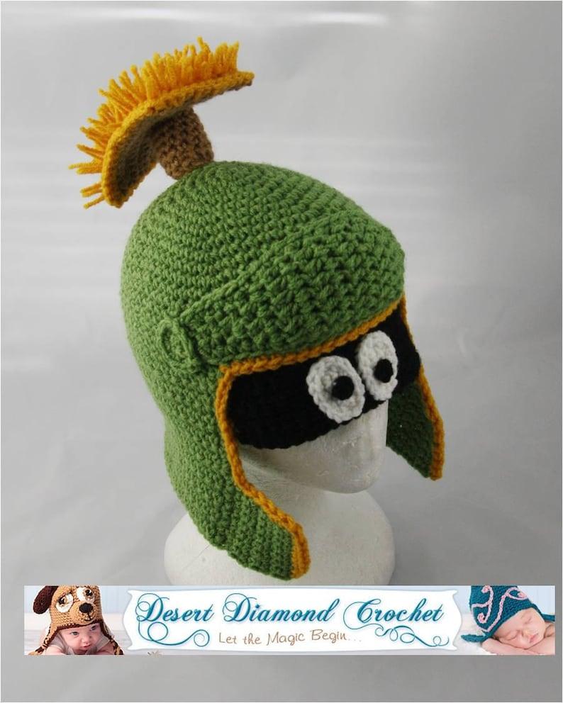 Crochet Pattern 055  Alien Martian Hat  All Sizes image 0