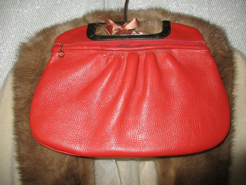 610ad16c3f97 VINTAGE JUSTIN MARI JANE casual all leather bag purse antique | Etsy