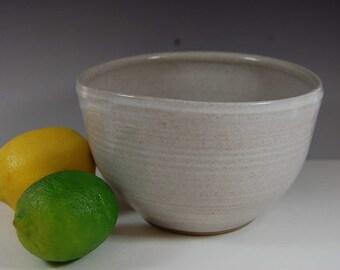 White Pottery Bowl, soup bowl, desserts bowl