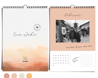 Noble DIN A4 photo calendar Desert Mood everlasting I without year | Wall calendar to design yourself & give away