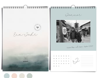 Noble DIN A4 photo calendar Aqua Mood always I without year | Wall calendar to design & give away