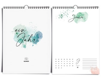 Perpetual DIN A4 photo calendar Happy Splash I without year | Wall calendar to design & give away