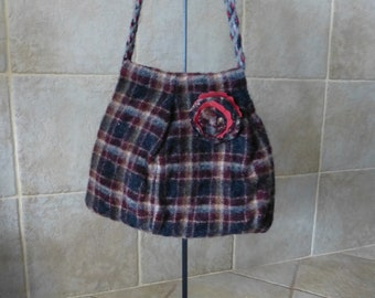 Felted Wool Purse upcycled