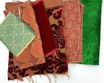 Luxe fabric collection in luscious Christmas colors