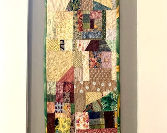 Vertical Town Quilt Wallhanging