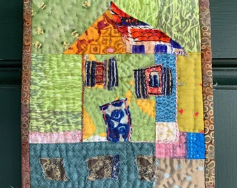 Whimsical House Quilt Wallhanging