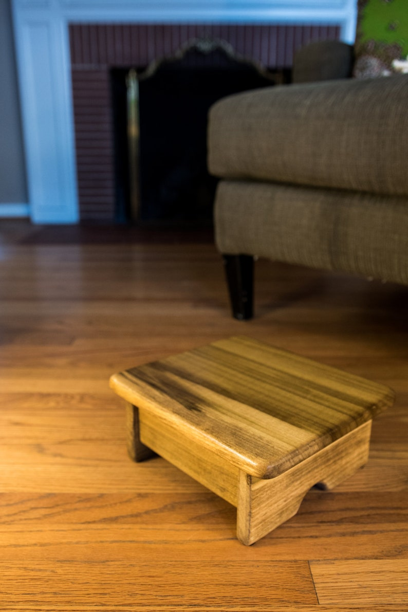Foot Stool Poplar Wood Maple Stain Mini (made in the USA)