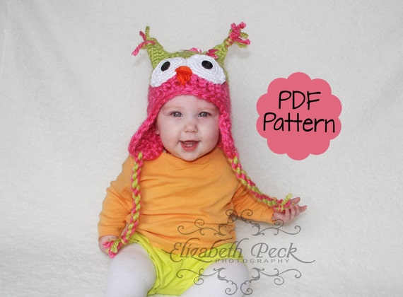 Little Owlet Owl Hat Crochet Pattern Sell What You Make Etsy