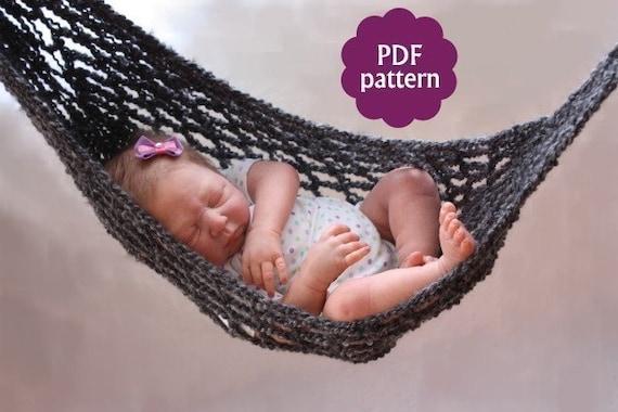 Hammock Baby Photo Prop Crochet Pattern Pdf Instant Etsy