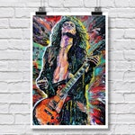 """Art Print  Poster 12 x 18"""" - Jimmy Page - Led Zeppelin 70s rock and roll guitar player"""