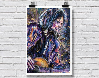 """Print 12x18"""" - Neil Young - Harvest Moon Buffalo Springfield Singer Songwriter"""