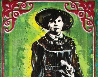 Outlaw Belle Starr - 12 x 18 High Quality Art Print