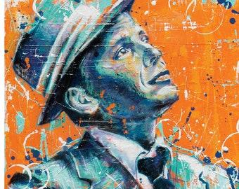 Frank Sinatra - Ol' Blue Eyes - 12 x 18 High Quality Art Print