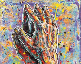 ORU's Praying Hands - 12 x 18 Signed, High Quality Art Print
