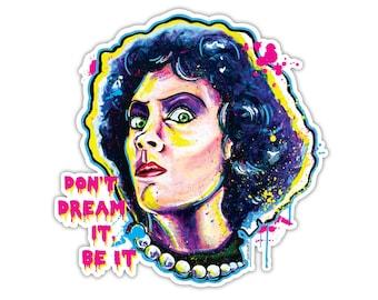 "Vinyl Sticker -Dr. Frank N Furter (approx. 4.125 x 4.2"") - Rocky Horror Picture Show Time Warp Again Transvestite Transexual Transylvania"
