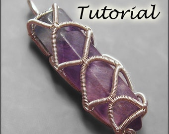 Prison of Enchantment - Wire Wrap Technique for Un-drilled Gemstone Points Wire Wrapping Tutorial