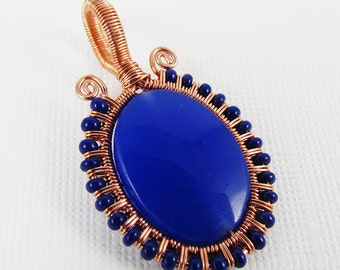 Simple Seed Bead Frame for a Pendant - Wirework Tutorial
