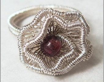 Crinkled Rosette Ring Tutorial