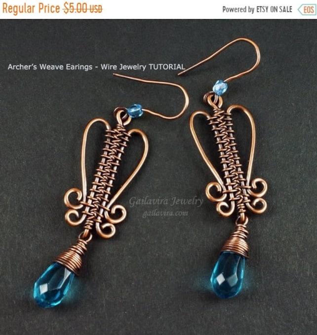 Fall Sale Archer\'s Weave Earrings Wire Woven Jewelry | Etsy