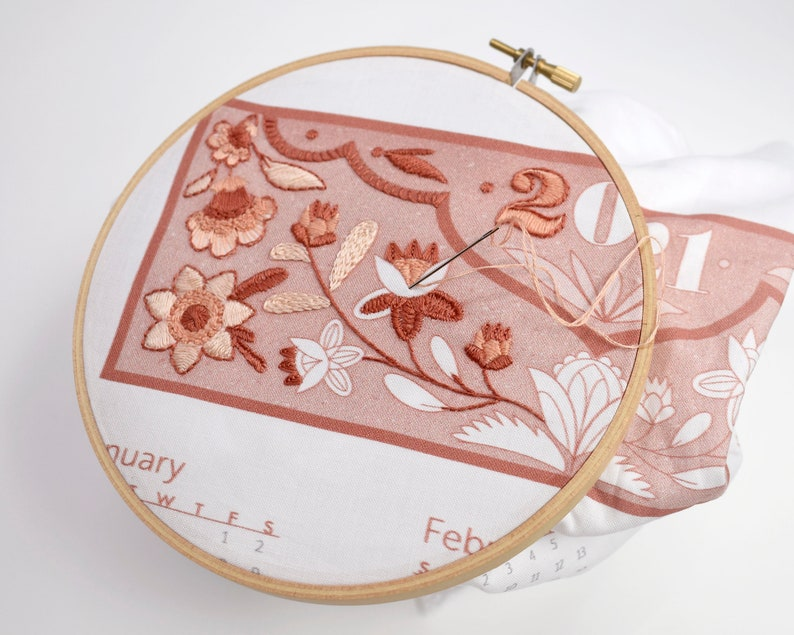 Embroidery Kit 2021 Calendar embroidery kit with matching image 0