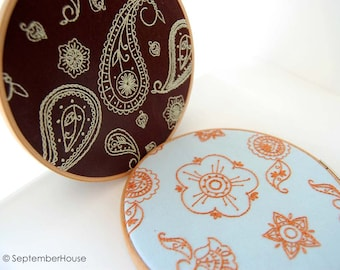 Hand Embroidery Patterns | Paisley Embroidery Patterns| Indian Floral Style Embroidery Designs | PDF Download | Modern Embroidery