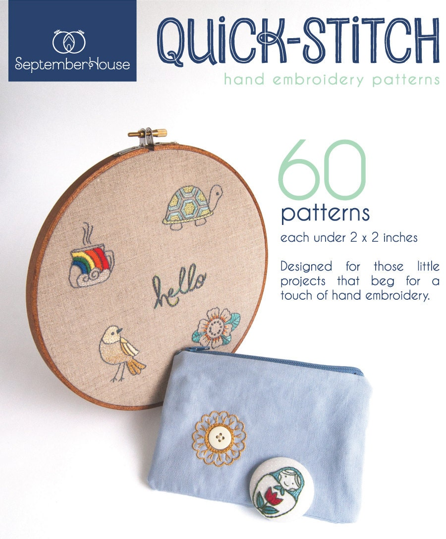 Hand Embroidery Patterns Quick Stitch Hand Embroidery Etsy