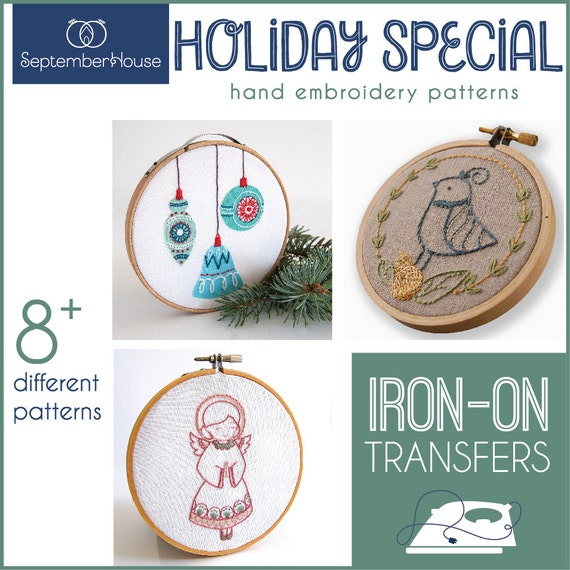 Embroidery Patterns Holiday Special Iron On Transfers For Hand Etsy