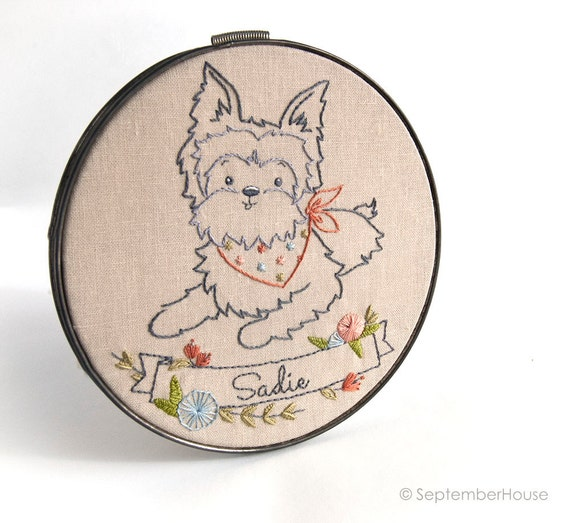 Embroidery Patterns Dog Embroidery Patterns Hand Embroidery Etsy