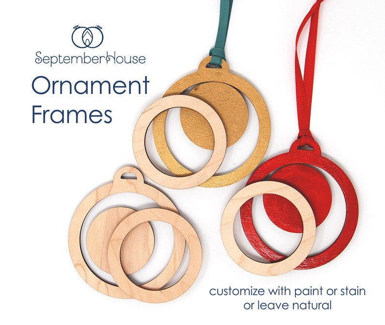 Embroidery Frame for Christmas Ornaments screwless wood frame image 0