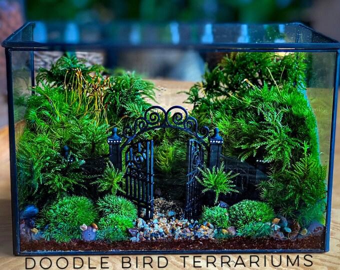 Secret Garden Moss Terrarium with Gate