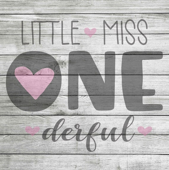 Little Miss One Derful Svg Jpeg Instant Download Etsy
