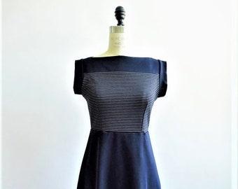 SALE 50% off Stripes boat neck dress in navy