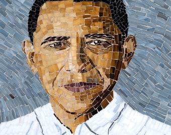 Glass Mosaic Portrait