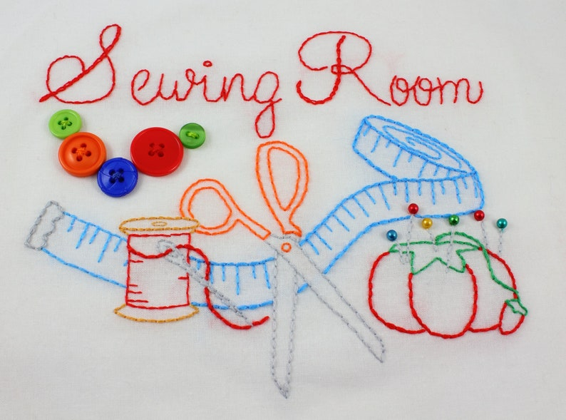 Sewing Room Hand Embroidery Pattern image 0